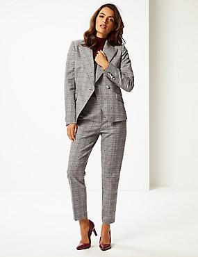 Cotton Blend Blazer & Trousers Suit Set , , catlanding
