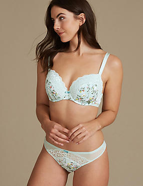 Floral Set with Padded Balcony A-E