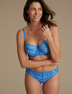 2 Pack Textured & Lace Set with Non-Padded Balcony DD-GG