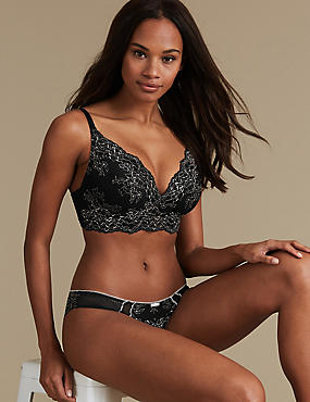 Lace Set with Non-Wired Bralet A-E, , catlanding