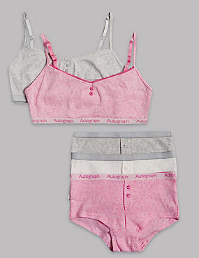 Pure Cotton Crop Top and Shorts Set