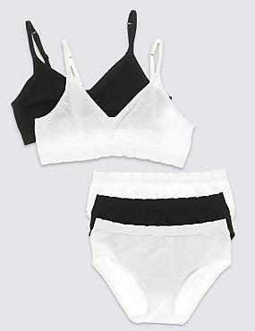 Seamfree Jacquard Spot Bra and Knickers Set