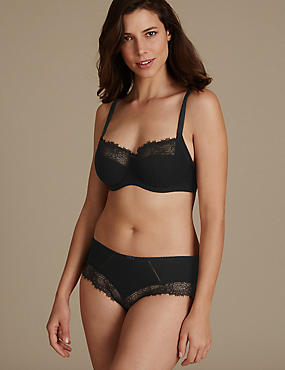 Eyelash Lace Set with Non Padded Balcony DD-G