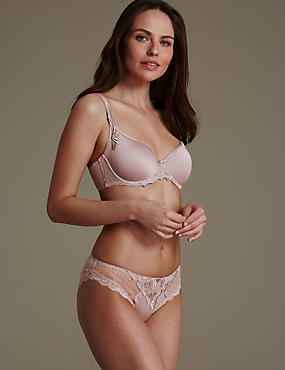 Ophelia Embroidered Set with Padded Full Cup B-DD