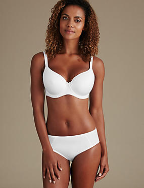 Sumptuously Soft Set with Underwired Striped Full Cup DD-G