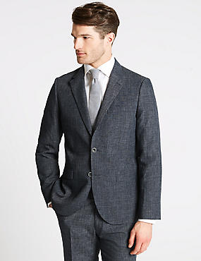 Linen Miracle Tailored Fit Suit, , catlanding