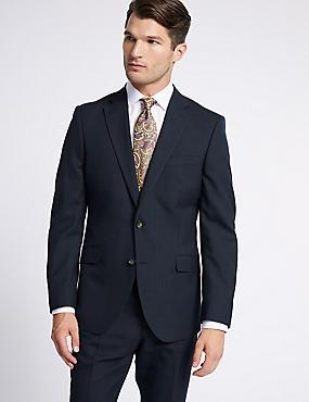 Big & Tall Navy Striped Regular Fit Suit, , catlanding