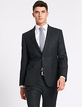 Tailored Fit Wool Blend Suit, , catlanding