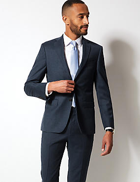 Textured Tailored Fit Wool Suit , , catlanding