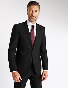 Grey Tailored Fit Wool Suit