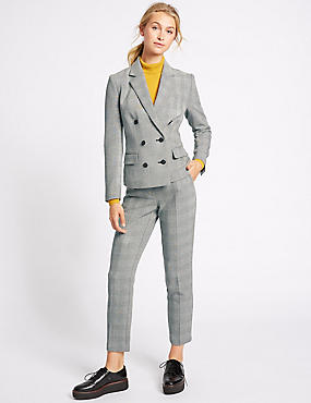 Checked Jacket & Trousers Set
