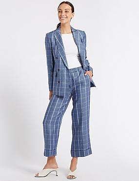 Pure Linen Blazer & Trousers Suit Set , , catlanding