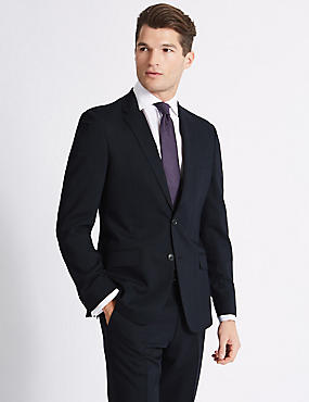 Big & Tall Navy Slim Fit Suit, , catlanding