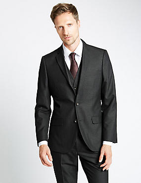Charcoal Tailored Fit Suit Including Waistcoat