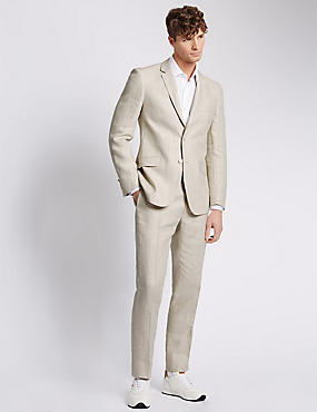 Cream Check Tailored Fit Suit