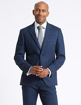 Linen Miracle Tailored Fit Suit, , catlanding