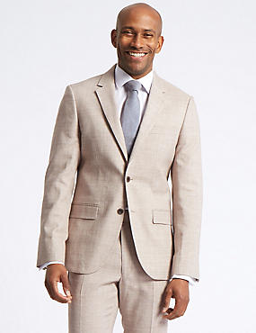 Big & Tall Linen Miracle Tailored Fit Suit, , catlanding