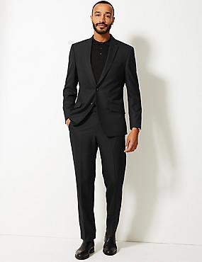 Black Regular Fit Suit, , catlanding