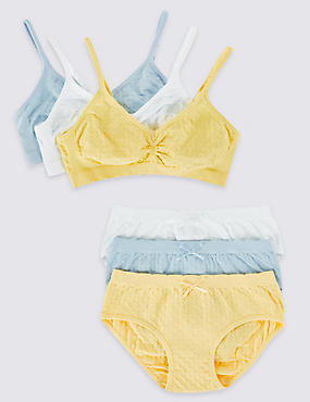 Seamfree Textured Bra and Knickers Set