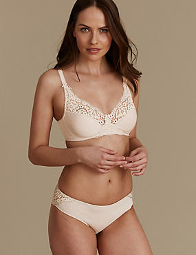 Vintage Lace Set with Non-Padded Full Cup AA-DD