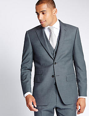 Grey Pure Wool Suit with Buttonsafe™