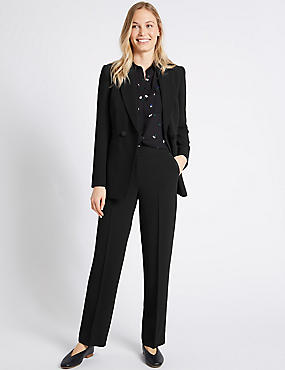 Blazer & Straight Leg Trousers Suit Set