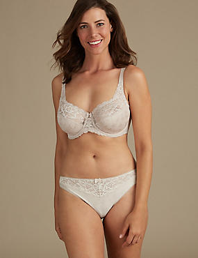 Floral Jacquard Set with Underwired Full Cup DD-H