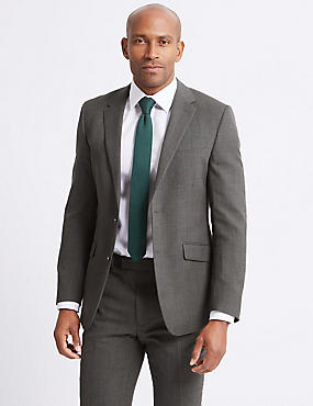 Grey Regular Fit Suit with Stormwear™
