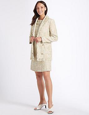 Textured Blazer & Shift Dress, , catlanding