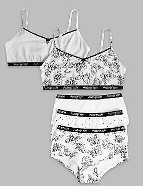 Cotton Rich Crop Top and Shorts Set