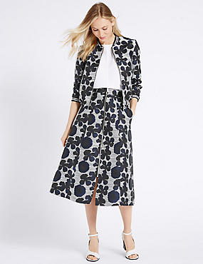 Floral Print Jacket & Skirt Set