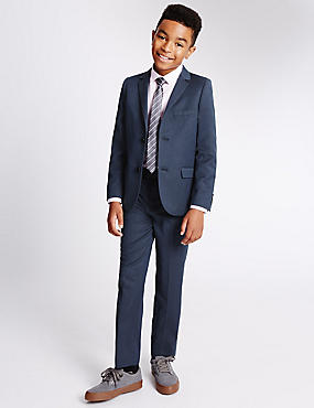 2 Button Spotted Suit (3-14 Years)