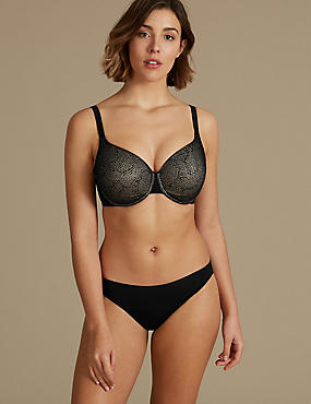Jacquard Lace Set with Full Cup DD-GG