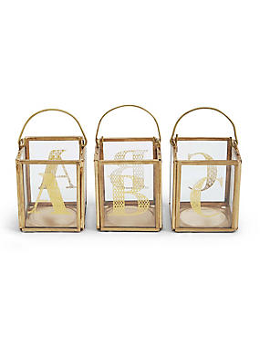 A-Z Individual Letter Square Tea Light Holders