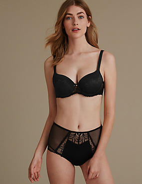 Arelia Lace Set with Padded Underwired Balcony A-E