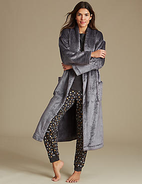 Printed Pyjama Set with Dressing Gown