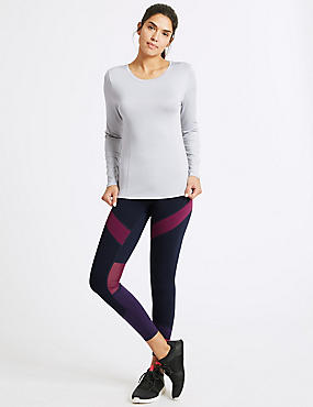 Quick Dry Long Sleeve Top & Leggings Outfit, , catlanding