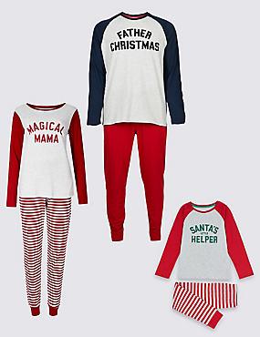 Santa Christmas Matching Family Pyjamas, , catlanding