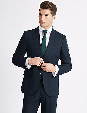 Linen Blend Regular Fit Suit, , catlanding