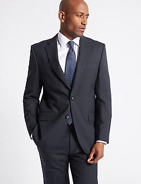 Big & Tall Navy Striped Regular Fit Suit, , catlanding