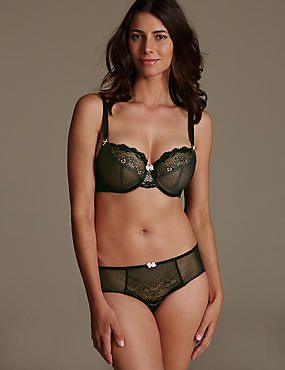 Lace Set with Underwired Non-Padded Balcony DD-GG