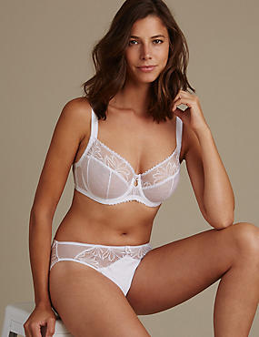 Arelia Lace Set with Non Padded Underwired Balcony DD-GG