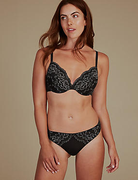 Louisa Lace Set with Padded Plunge A-E, , catlanding