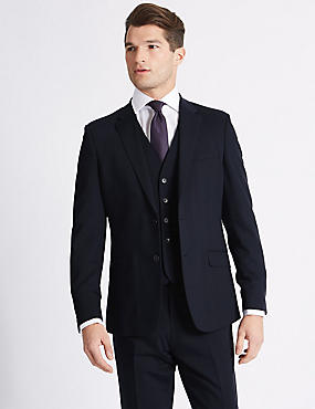 Navy Slim Fit 3 Piece Suit, , catlanding