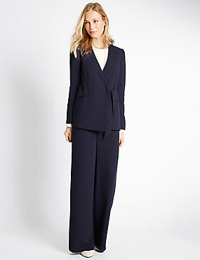Crepe Jacket & Trousers Set