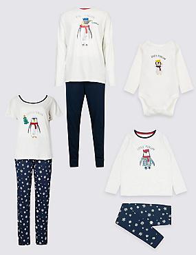Penguin Christmas Matching Family Pyjamas, , catlanding