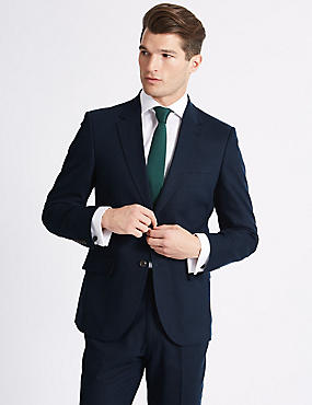 Big & Tall Navy Regular Fit Suit, , catlanding