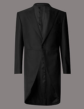 Black Regular Fit Morning Suit