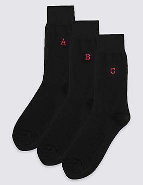 7 Pack Alphabet Freshfeet™ Socks, , catlanding