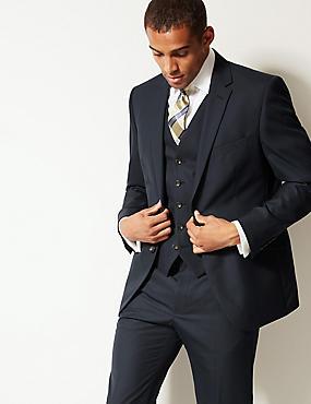 Navy Tailored Fit 3 Piece Suit, , catlanding